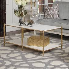 global views coffee table global views products arbor cocktail table brass white marble