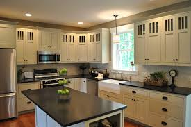 black granite countertops white tile white cabinets dream