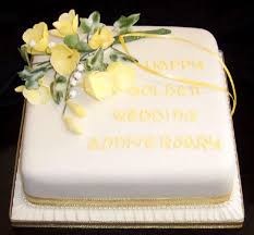 golden wedding cakes happy golden wedding anniversary brysons of keswick