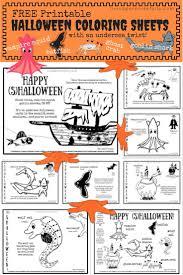 printable halloween scavenger hunt free printable undersea halloween coloring sheets u2013 living