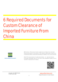 Furniture For The Home 6 Required Documents For Custom Clearance Of Imported Furniture From U2026