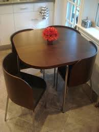 perfect space saving kitchen table and chairs and furniture brown