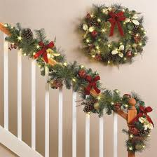 battery lighted fall garland outdoor pre lit wreath uk outdoor designs