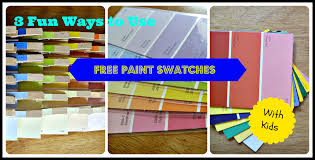 fun things to do with paint swatches