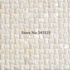 11pcs white convex shell mosaic tile mother of pearl kitchen