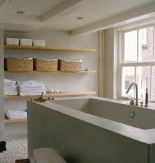 bath open shelving remodelista