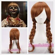 annabelle costume annabelle style brown party wig costume