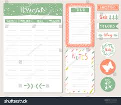 To Do Stickers Password Organizer Template Notepad Do List Stock Vector 541694830