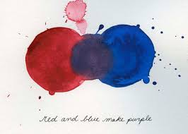 what colors make purple paint mixing colors red and blue make purple print from original
