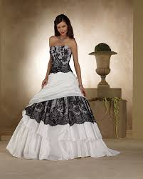 white black lace wedding dress white and black lace wedding dresses pictures ideas guide to