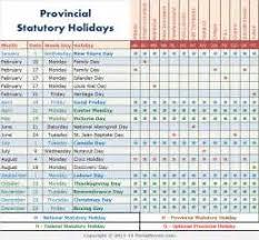 canada statutory holidays best 2017