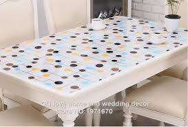 thick plastic table cover 1 0mm thick soft glass plastic table cloth print tablecloth crystal