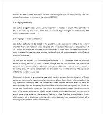 coffee shop business plan template u2013 9 free sample example