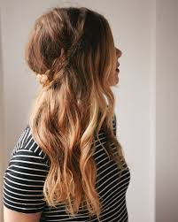 braided hairstyles with hair down half up braided crown a cup of jo