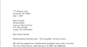 cover letter for literary magazine letter of recommendation