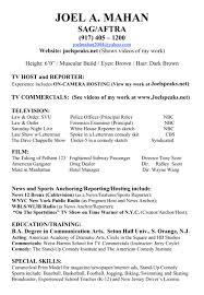 sample journalism resume journalism resume format journalist resume examples television reporter sample joel cover