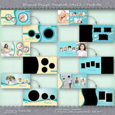 24x12 photo album template pack 6 templates photo collage
