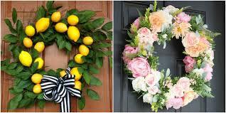 20 diy summer wreaths outdoor door wreath ideas for summer