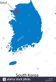 Map Of World Korea by Detailed Vector Map Of South Korea And Capital City Seoul Stock