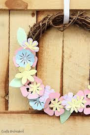 diy paper flower wreath spring decor consumer crafts