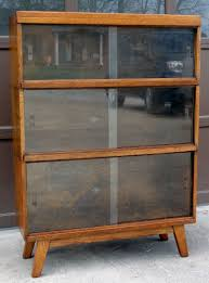 Globe Wernicke File Cabinet For Sale by Rare Mid Century Modern Globe Wernicke Stacking Barrister Lawyers