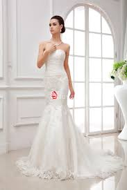 fit and flare wedding dress fit and flare strapless embroidered lace wedding dress