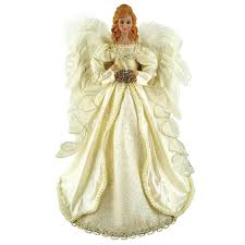 santa u0027s workshop 16 in majestic cream angel tree topper 3059