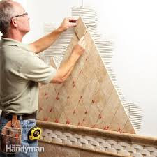How To Lay Floor Tile In A Bathroom - tile installation the family handyman