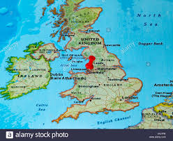 Map If Europe Liverpool U K Pinned On A Map Of Europe Stock Photo Royalty