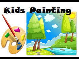 how to draw nature paint for kids learn colors for kids simple