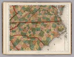 Map Of North Carolina And Virginia by Map Library