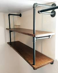 diy industrial pipe shelving creative home design on furniture