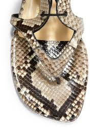 christian louboutin girafina python gladiator sandal boots lyst