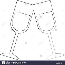champagne toast cartoon champagne flute black and white stock photos u0026 images alamy