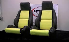 corvette seat covers c4 corvette america reconditions a set of leather c4 corvette