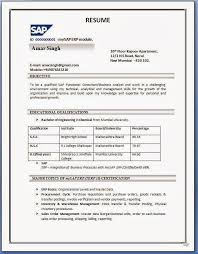 Sap Crm Resume Samples by Indian Resume Format For Freshers It Resume Cover Letter Sample