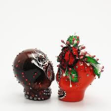 skull cake topper skull wedding cake toppers
