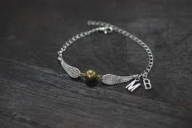 monogram bracelet gold 925 sterling silver golden bracelet gold wings charms