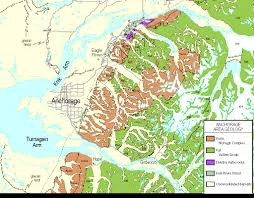 Alaska On A Map by Ever Digital Geologic Map Of Alaska Published