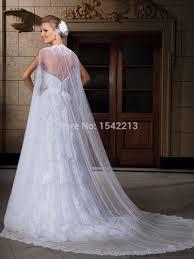 noble white ivory appliques tulle wedding cloak cape bridal wrap