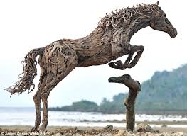 wood sculpture singapore doran webb to create size sculptures of horses