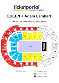 O2 Floor Plan by O2 Arena Queen Adam Lambert