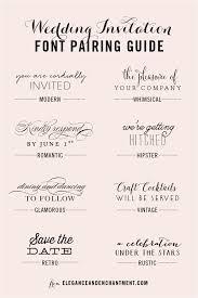wedding invitations font casual wedding invitation font pairing guide wedding