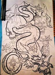 japanese dragon sleeve tattoo by paintball0531 on deviantart