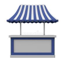 shoing canap shopping counter with canopy stock illustration illustration of
