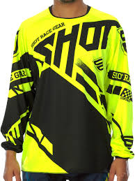 motocross jersey printing shot neon yellow 2016 raceway contact mx jersey shot