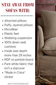 How To Choose A Couch How To Choose A Sofa Avoid These Features The Stated Home