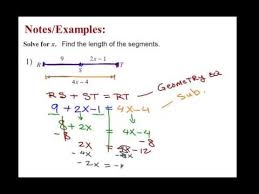 finding length of line segments with equations and subst