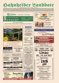 hahnheider landbote vom 06 07 2017 by hahnheider landbote issuu