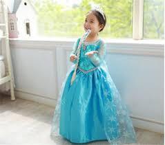 Elsa Halloween Costumes Discount Frozen Dress Costume Crown 2017 Frozen Dress Costume